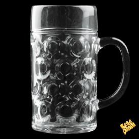 Pichet Réutilisable SAN pour Bière Ø105mm 1000ml (6 Utés)