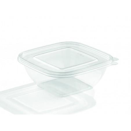 Saladier de Plastique 190x40mm Noir PET 750ml (300 Utés)