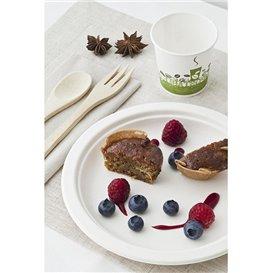 Assiette Bio en Canne à Sucre Blanc Ø180mm (50 Unités)