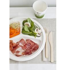 Assiette Bio en Canne à Sucre 3C Blanc Ø260mm (400 Utés)