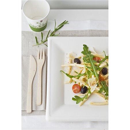 Assiette Carrée Bio Canne à Sucre Blanc 150x150mm (50 Utés)