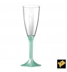 Flûte Champagne Plastique Pied Tiffany Perlé 120ml 2P (200Utés)