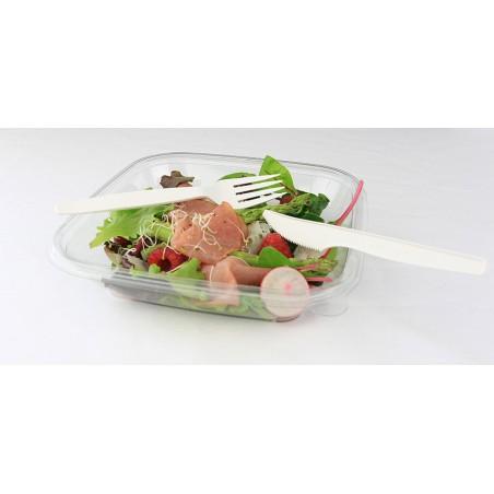 Fourchette Biodegradables Crème PLA 160mm (50 Unités)