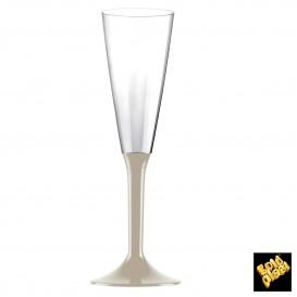 Flûte Champagne Plastique Pied Beige 160ml 2P (20 Utés)