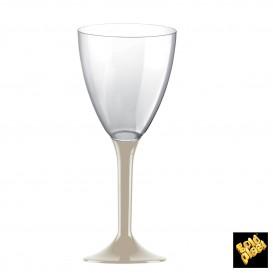 Flûte en Plastique Vin Beige 180ml (20 Unités)