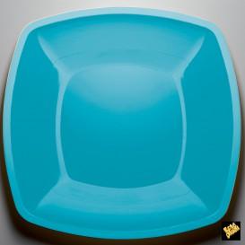 Assiette Plastique Plate Turquoise PS 300mm (150 Utés)