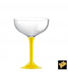 Flûte Champagne Plastique Pied Jaune 200ml 2P (200 Utés)