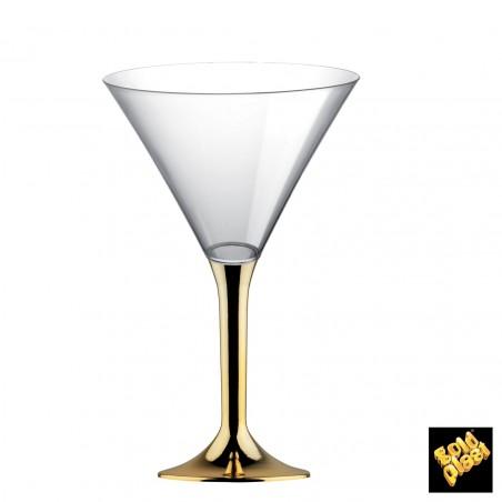 Flûte en Plastique Cocktail Or Chrome 185ml (200 Unités)
