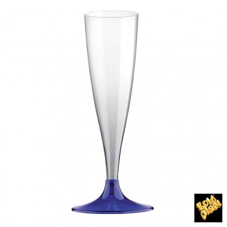 Flûte Champagne Plastique Bleu Transp. 140ml (200 Unités)