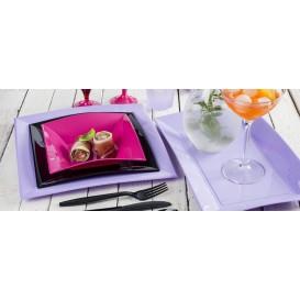 Assiette Plastique Réutilisable Plate Noir PP 180mm (25 Utés)