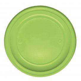Assiette Plastique Plate Orange PS 220mm (30 Unités)