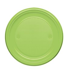 Assiette Plastique Plate Orange PS 170mm (1100 Unités)