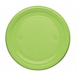 Assiette Plastique Plate Orange PS 170mm (50 Unités)