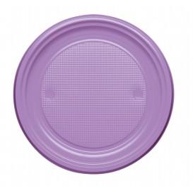 Assiette Plastique Plate Violette PS 170mm (1100 Unités)