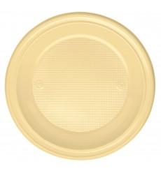 Assiette Plastique Plate Creme PS 220mm (600 Unités)