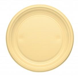 Assiette Plastique Plate Creme PS 170mm (1100 Unités)
