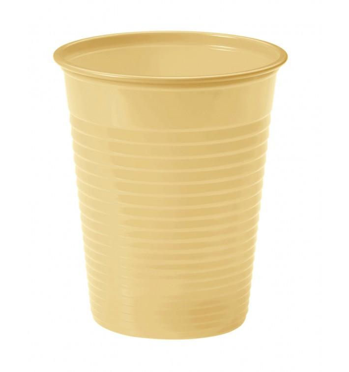Gobelet Plastique Creme PS 200ml (50 Unités)