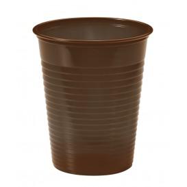 Gobelet Plastique Brun PS 200ml (50 Unités)