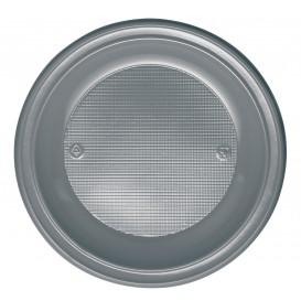 Assiette Plastique Plate Brun PS 220mm (600 Unités)