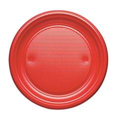 Assiette Plastique Plate Or PS 170mm (50 Unités)