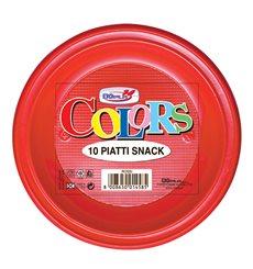 Assiette Plastique PS Plate Rouge Ø280mm (140 Unités)