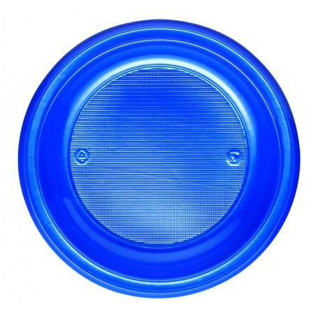 Assiette Plastique Fond Bleu Foncé PS 220mm (30 Unités)
