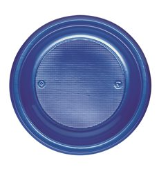 Assiette Plastique PS Creuse Bleu Foncé Ø220mm (600 Unités)