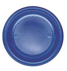 Assiette Plastique PS Plate Bleu Foncé Ø220mm (780 Unités)