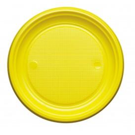 Assiette Plastique Plate Bleu Foncé PS 170mm (50 Unités)