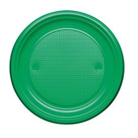 Assiette Plastique Plate Jaune PS 170mm (50 Unités)