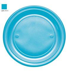 Assiette Plastique PS Plate Turquoise Ø220mm (30 Unités)
