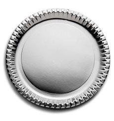 Assiette ronde Carton Argenté 230mm (300 Unités)