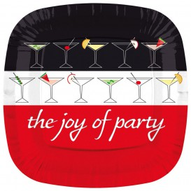 Assiette Carton Carrée ''Joy of Party'' 170mm (8 Unités)