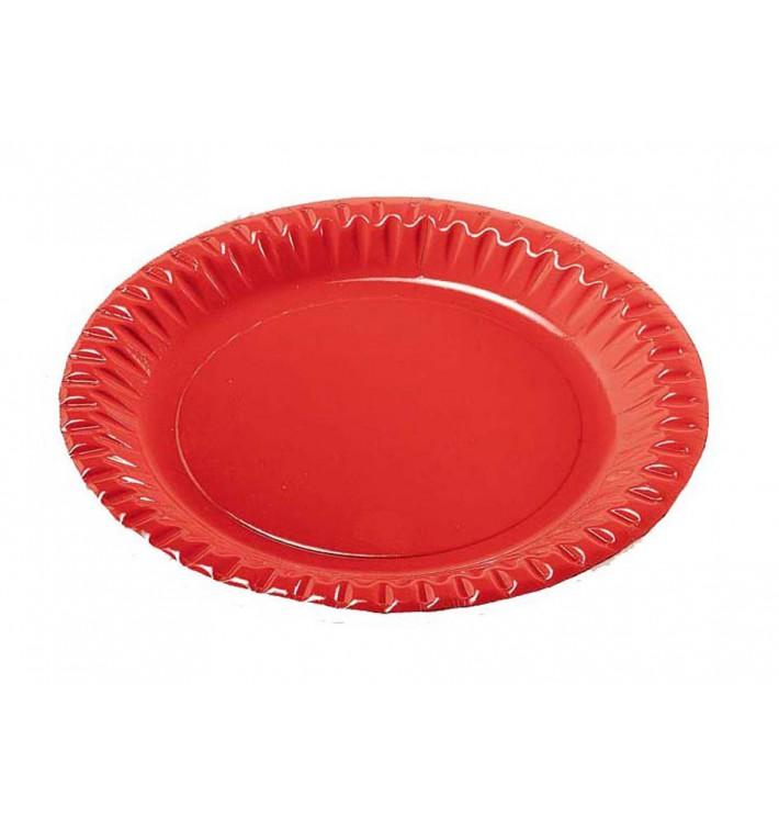 """Assiette ronde Carton """"Party"""" Rouge 230mm (10 Unités)"""