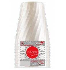 "Gobelet Plastique PP ""X-Table"" Perle 320ml (8 Utés)"