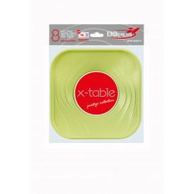 """Assiette Plastique PP """"X-Table"""" Citron vert 180mm (8 Utés)"""