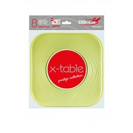 """Assiette Plastique PP """"X-Table"""" Citron vert 230mm (120 Utés)"""