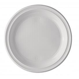 Assiette Plastique Blanche 205mm (25 Unités)