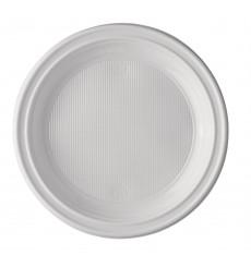 Assiette Plastique Blanche 220 mm (100 Unités)