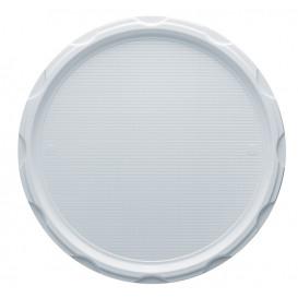 Assiette Plastique à Pizza PS Blanche 320mm (500 Unités)