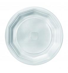 Assiette Plastique Blanche Fond PS 220 mm (100 Unités)