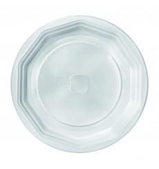 Assiette Plastique Plate Blanche PS 220 mm (100 Unités)