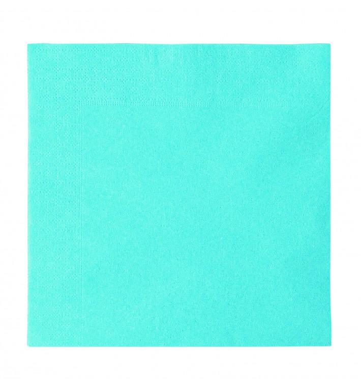Serviette Papier 2 épaisseurs Bleu Clair 33x33cm (1200 Utés)