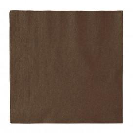 Serviette Papier 2 épaisseurs Brun 33x33cm (1200 Unités)