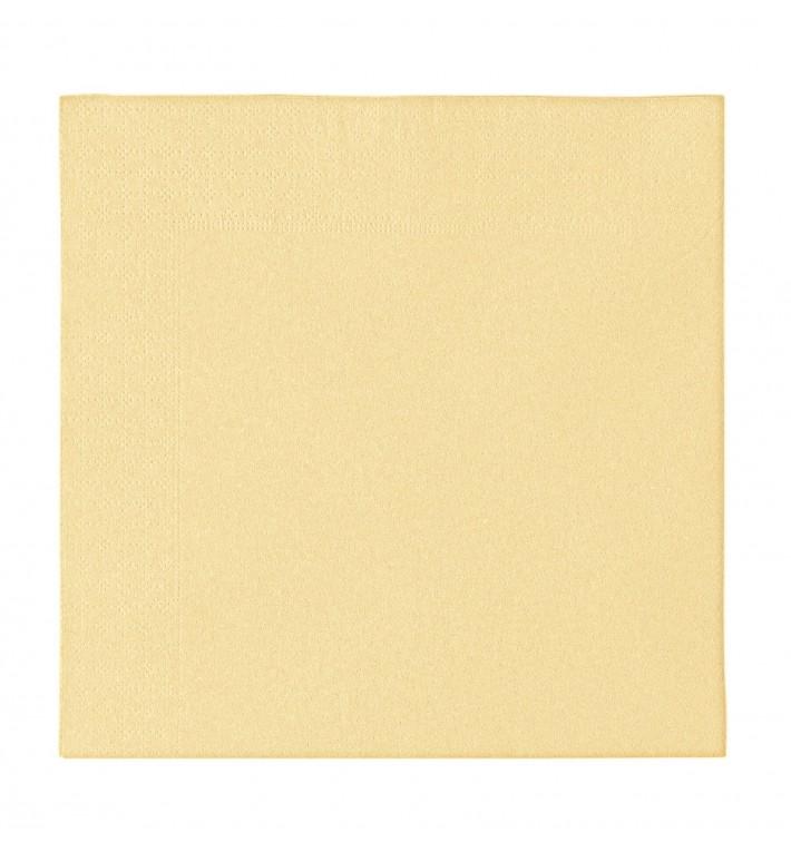 Serviette Papier 2 épaisseurs Crème 33x33cm (1200 Unités)