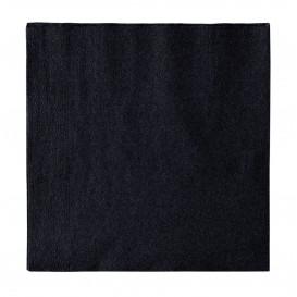 Serviette Papier 2 épaisseurs Noir 33x33cm (50 Unités)