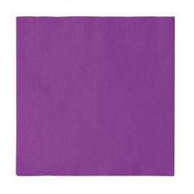Serviette Papier 2 épaisseurs Violet 33x33cm (50 Unités)