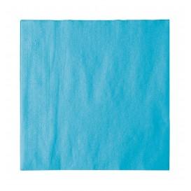 Serviette Papier 2 épaisseurs Turquoise 33x33cm (50 Unités)