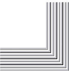 Serviette Papier 2 épaisseurs Argenté 33x33cm (20 Unités)