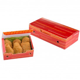 Boîte pour repas à emporter Grand 200x100x50mm (25 Utés)